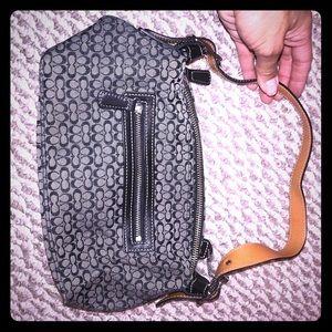 Coach signature Black and Tan mini bag
